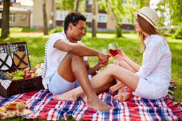 Toast on picnic