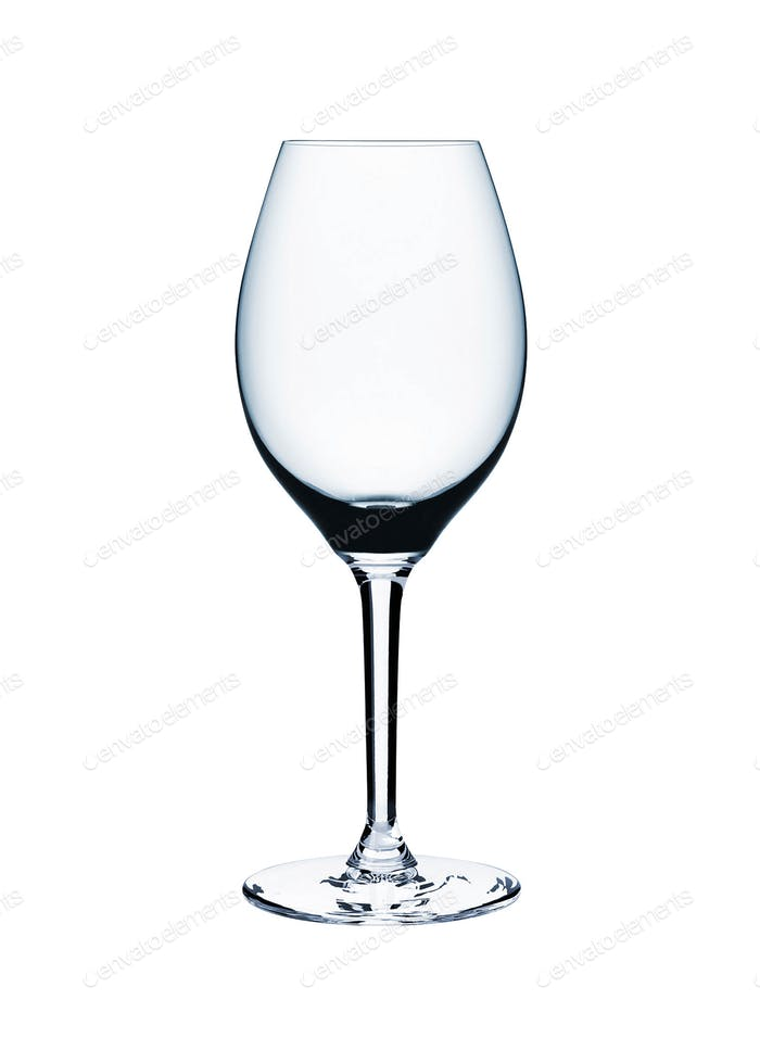 Empty wine glass isolated