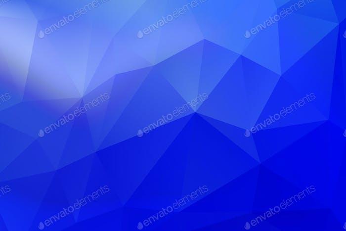 Fading halftone geometrical patterned blue background