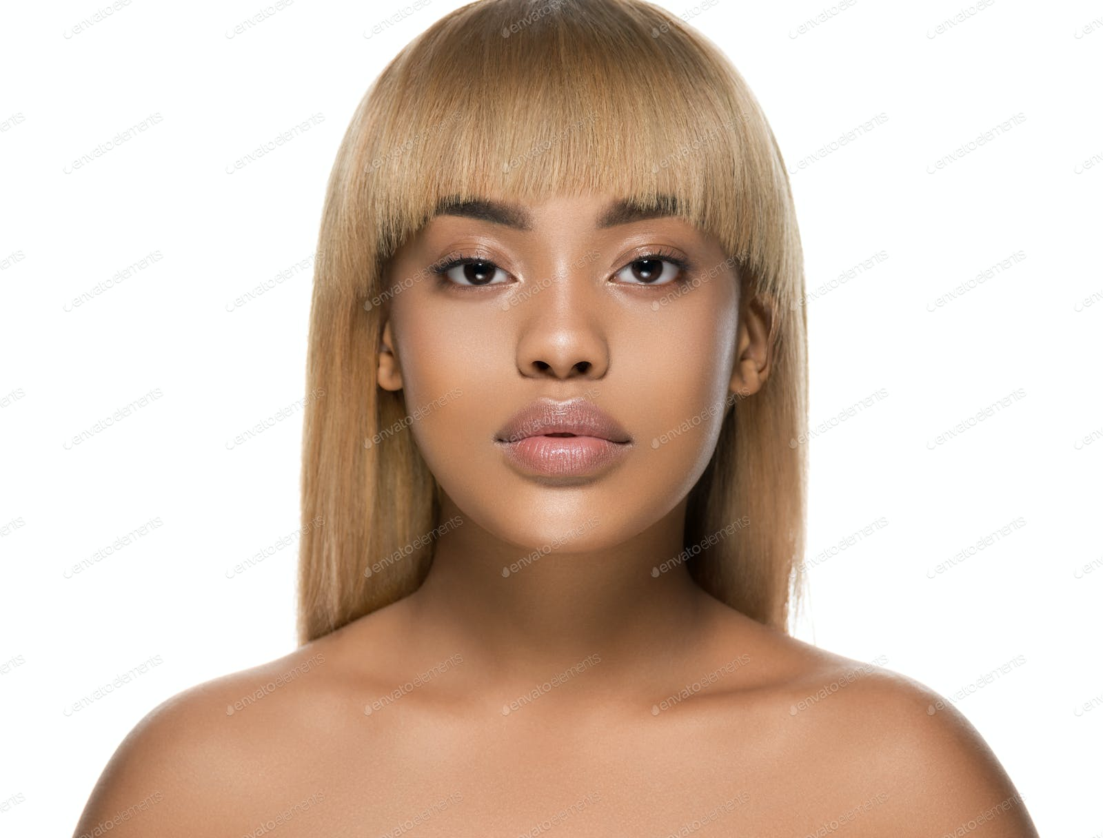 Woman Beauty Afro American Female Beautiful Skincare Face Photo By Kiraliffe On Envato Elements