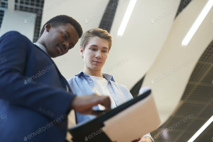 Jungunternehmer bei Business Company