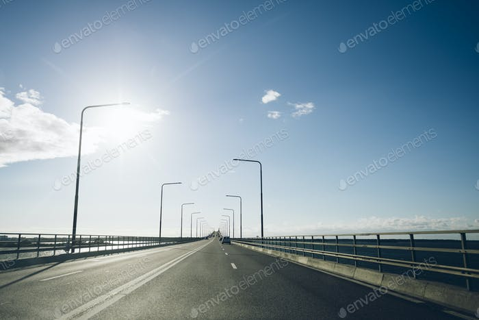 Road on sunny day