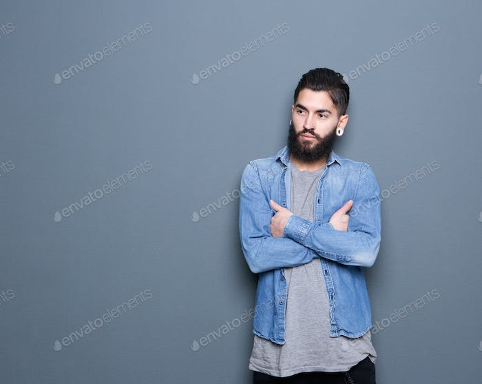 Stylish young man with beard