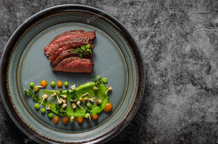 Beef steak food styling