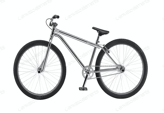 Fahrrad isoliert