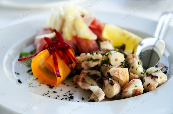 Mixed octopus salad