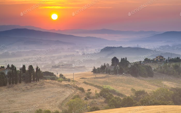 Tuscan Countryside Scenery