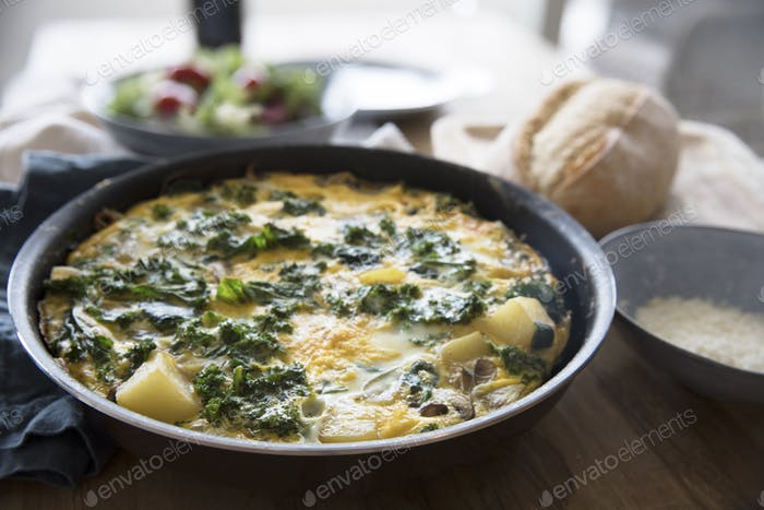 Fritatta with Kale and Potatoes