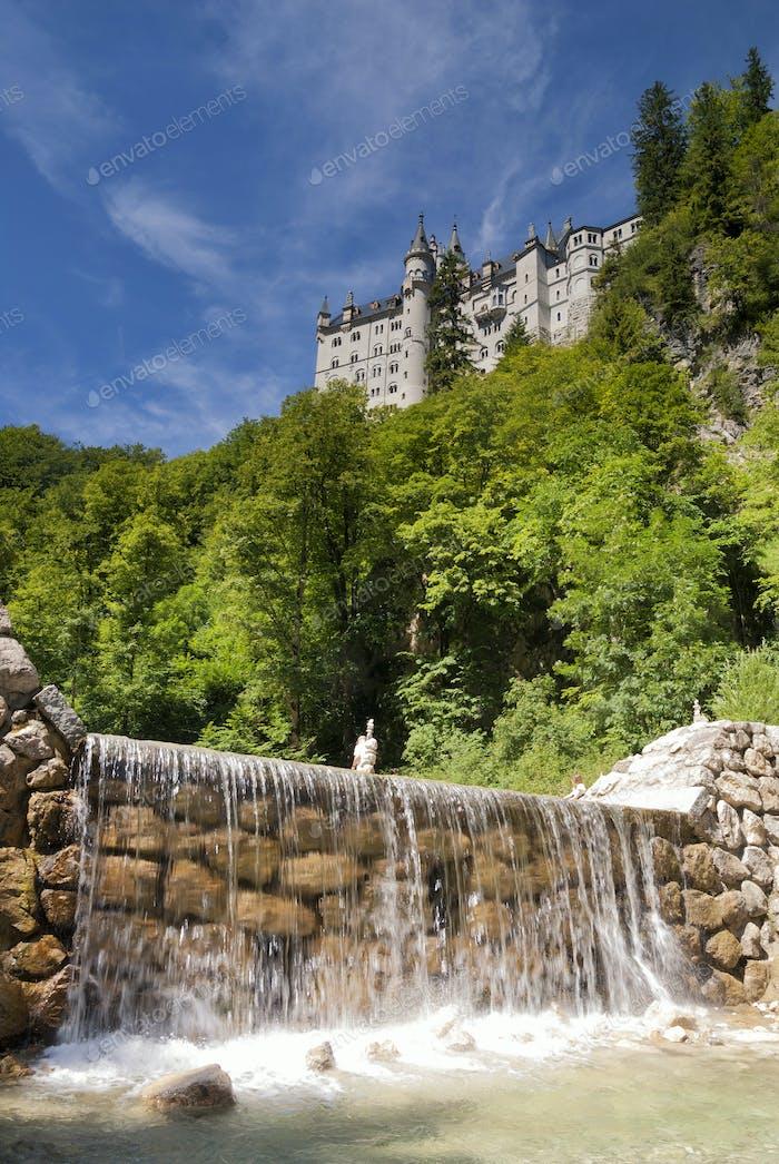 Neuschwanstein castle near Fussen