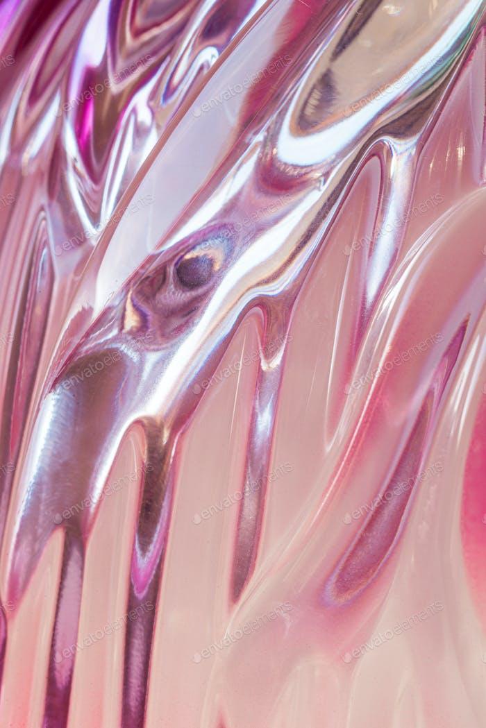 Abstrakte Textur von farbigen geriffelten Glas