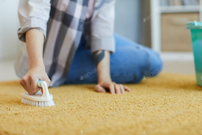 Washing the carpet at home