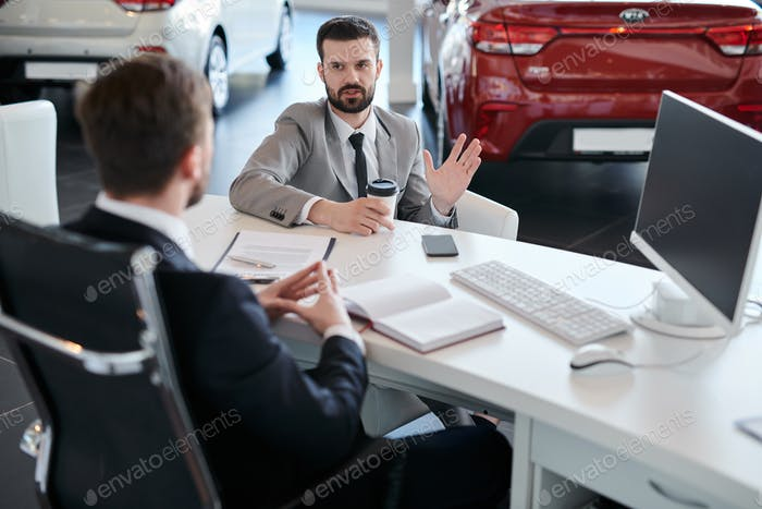 Businessman Choosing Car