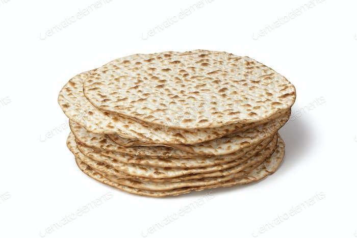 Frischer Haufen von Matzah