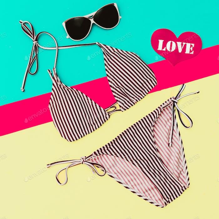 Beach Fashion. Stylish Swimsuit for Lady