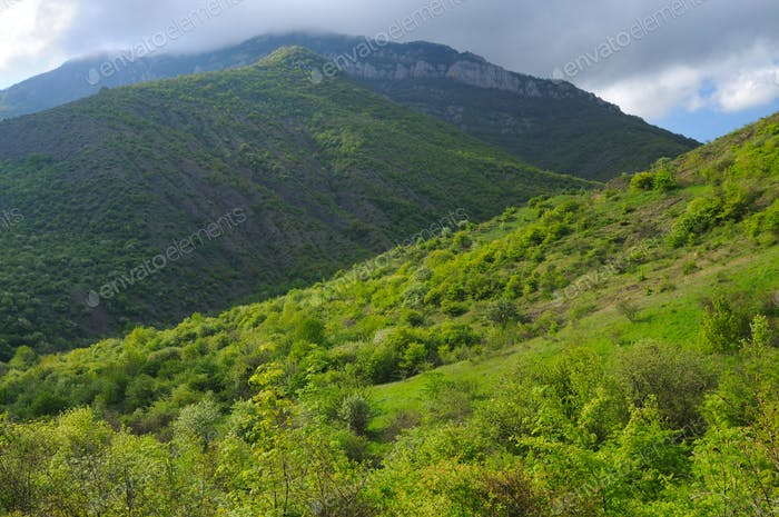 Forest mountain ridges, landscapes series, Crimea, Ukraine