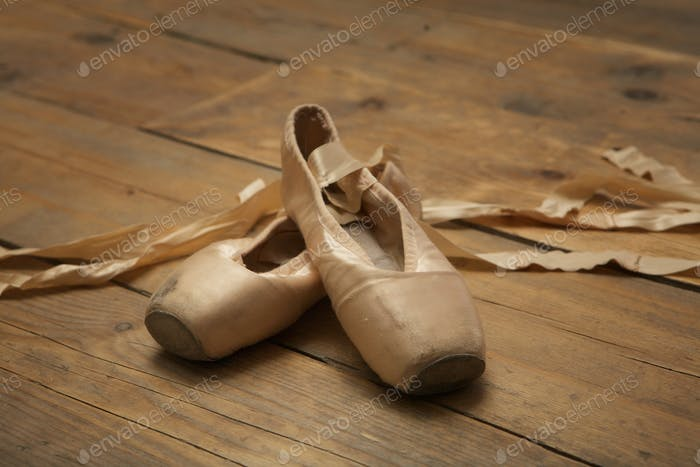 Pair of Used Ballet Shoes