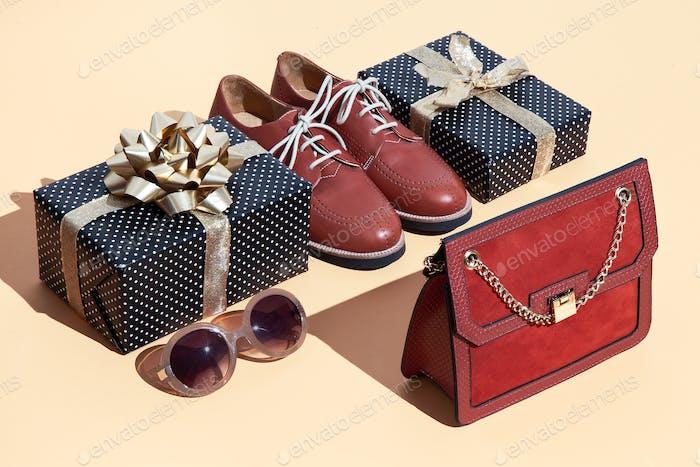 Geschenk-Box und stilvoll