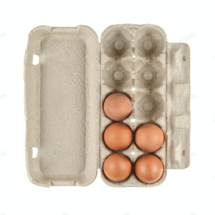 Egg carton box isolated