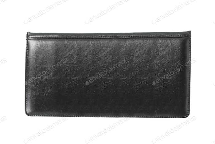 black wallet isolated
