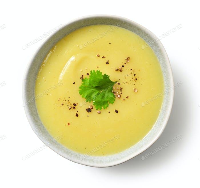 Schüssel Gemüse-Sahnesuppe