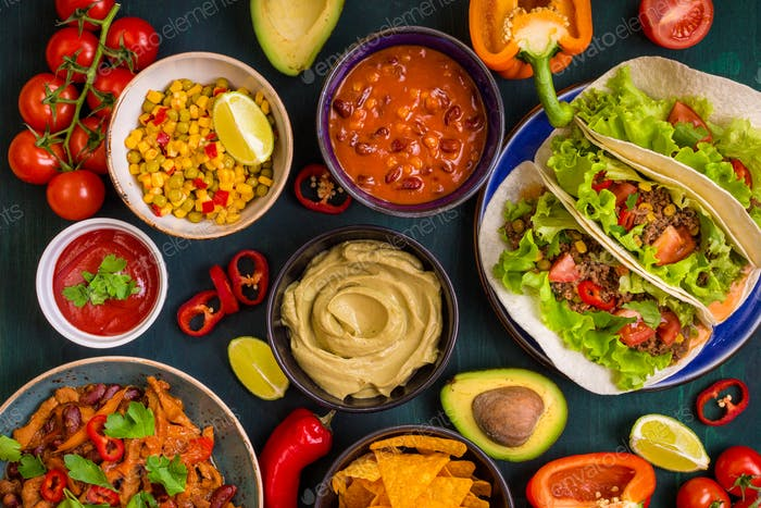 Mixed mexican food