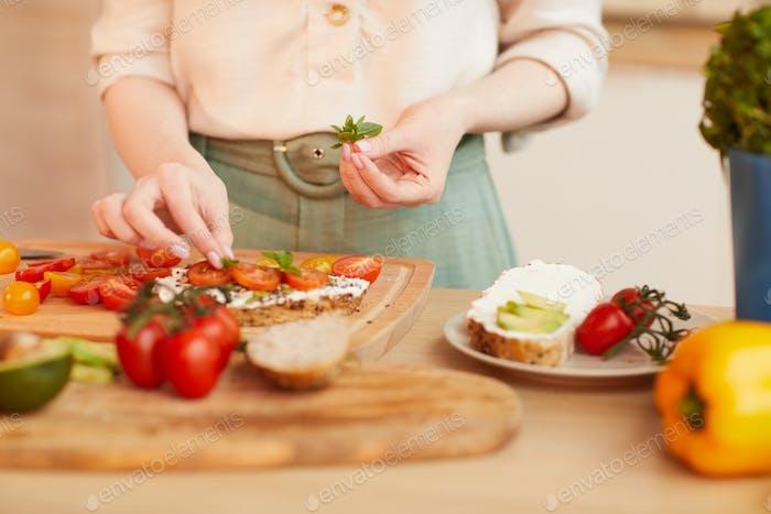 Woman Cooking Healthy Breakfast in Cozy Kitchen