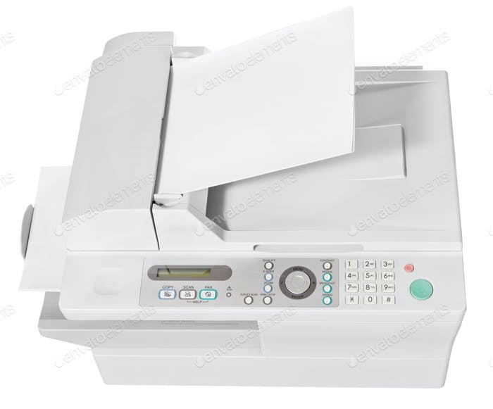 ffice multifunction device isolated on white
