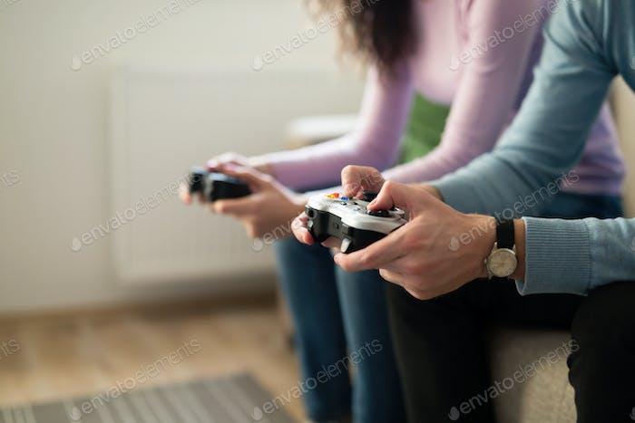 Gente jugando Vídeo