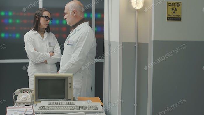 Scientific team working in the laboratory