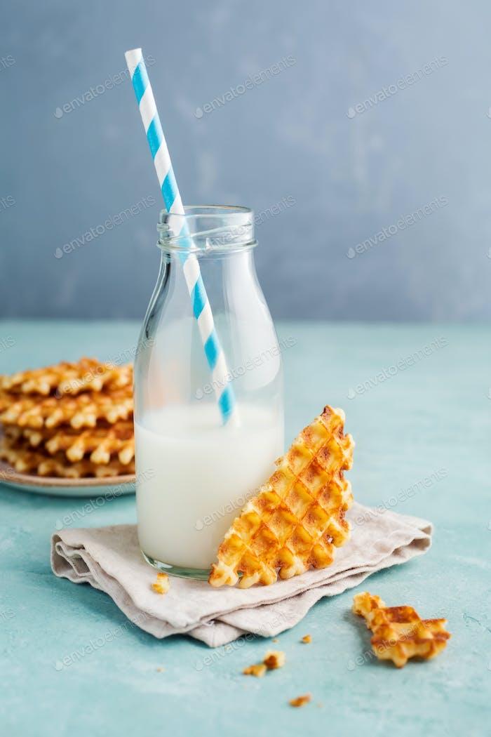 Tasty crispy waffles
