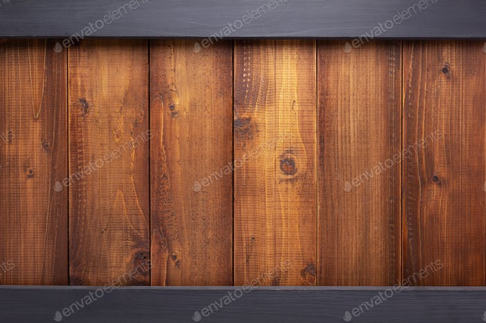 wooden old brown and black  plank board