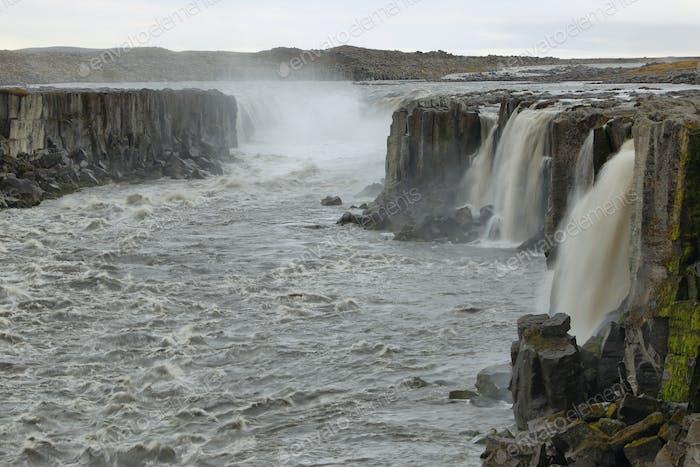 Selfoss waterfall in Iceland