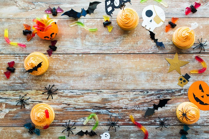 halloween party paper decorations and treats