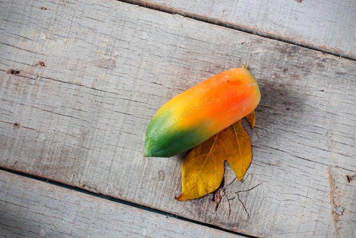 Papaya with top view