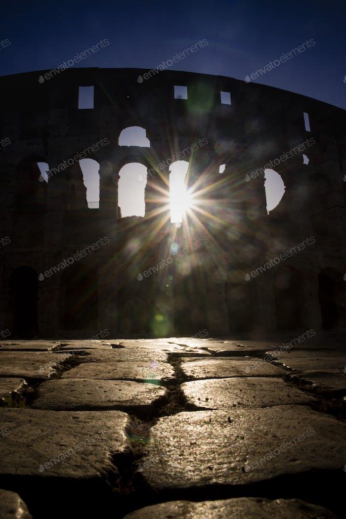 Kolosseum bis zur Morgendämmerung