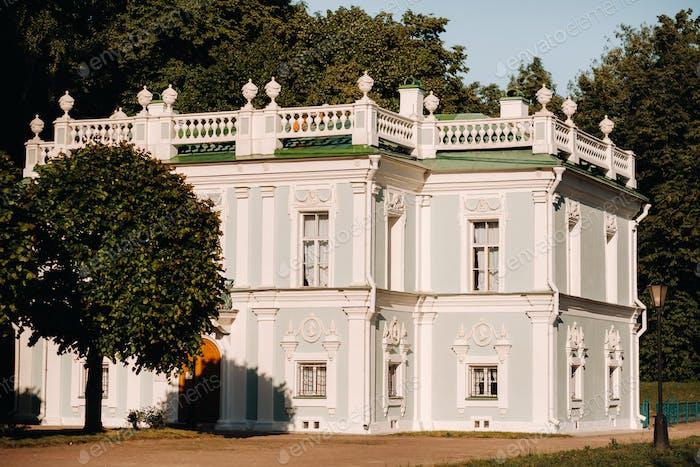 Kuskovo Herrenhaus in Moskau, Russland. Kuskovo Herrenhaus ist ein einzigartiges Denkmal aus dem XVIII Jahrhundert, ein Sommer