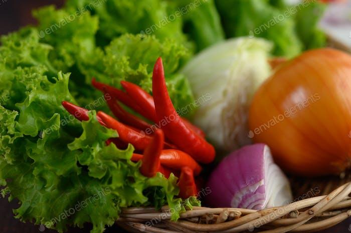 Frescura Vegetal en cesta de tejido