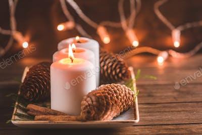 Winter cozy decoration