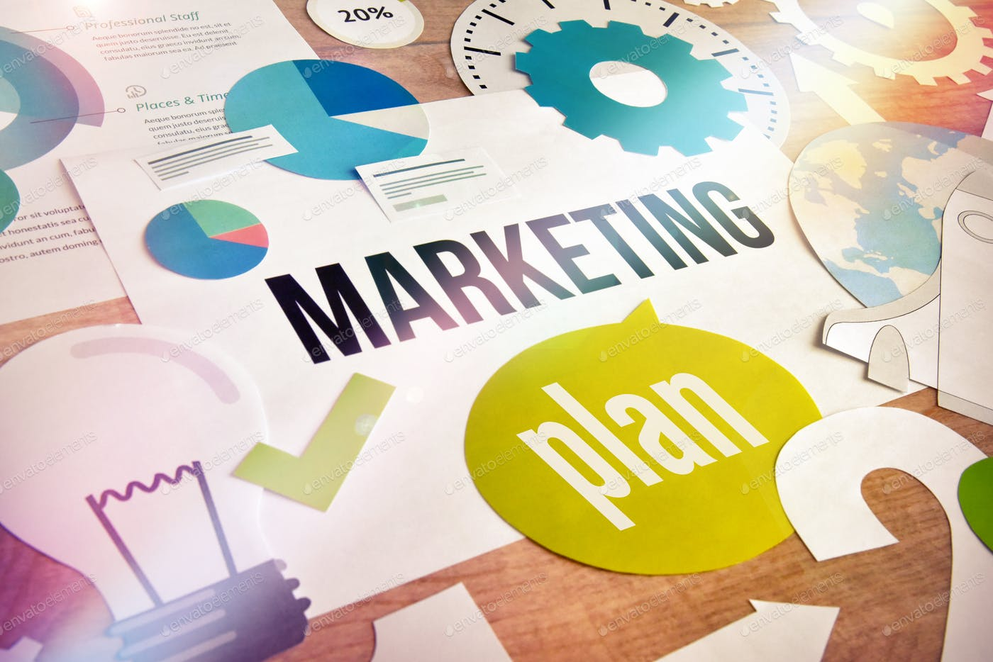 Marketing plan photo by PureSolution on Envato Elements