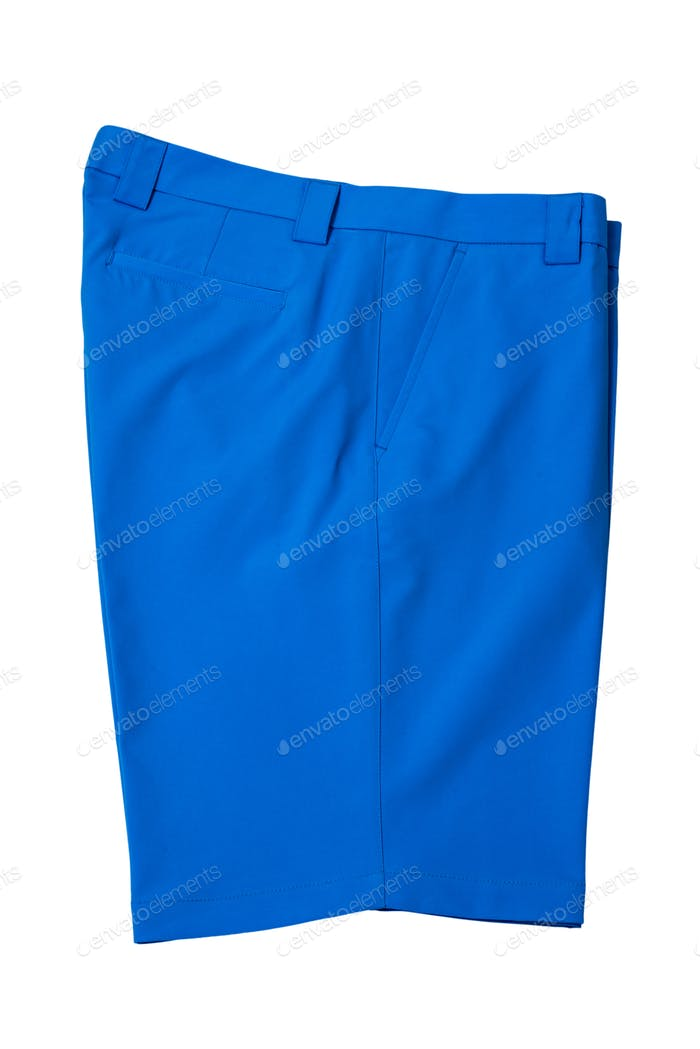 Light blue short pants trousers for man