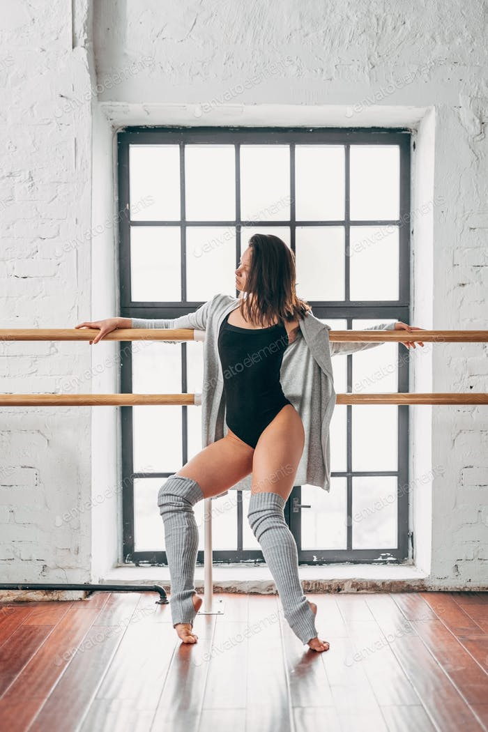 Dancing young girl in studio