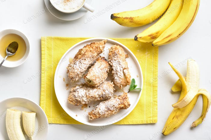 Deep fried bananas