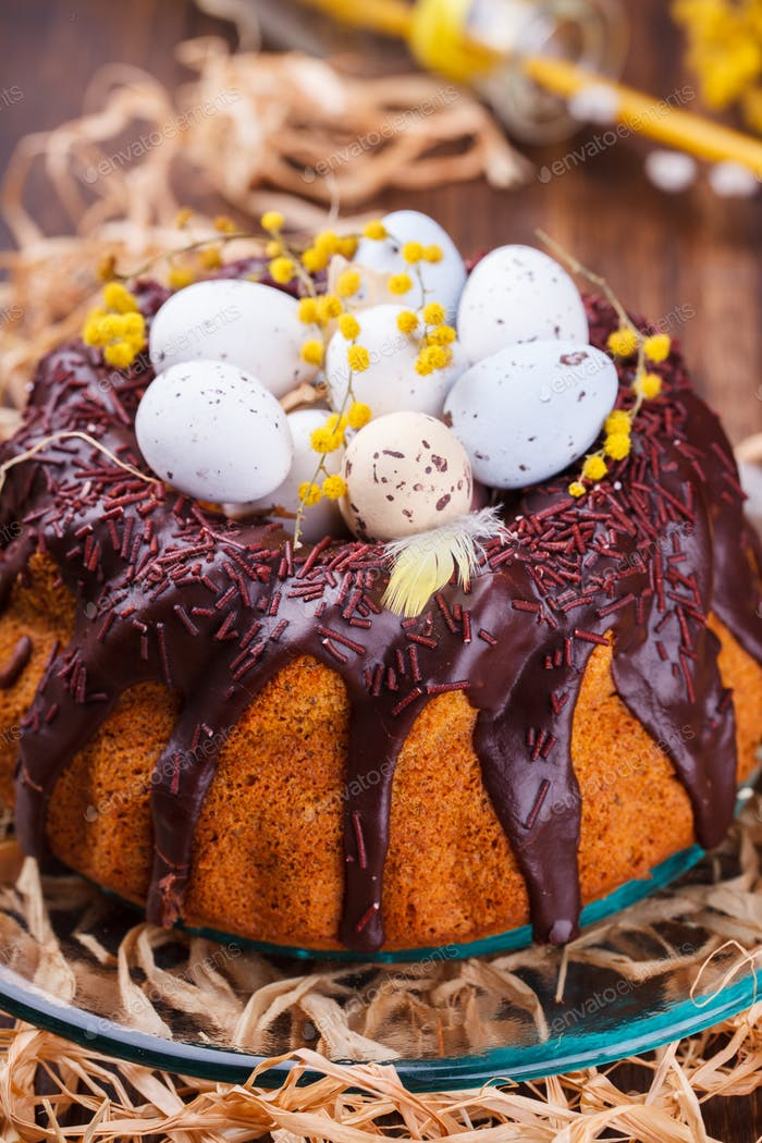 Easter cake with chocolate