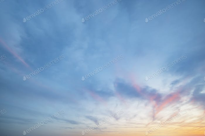 Sky background at sunset.