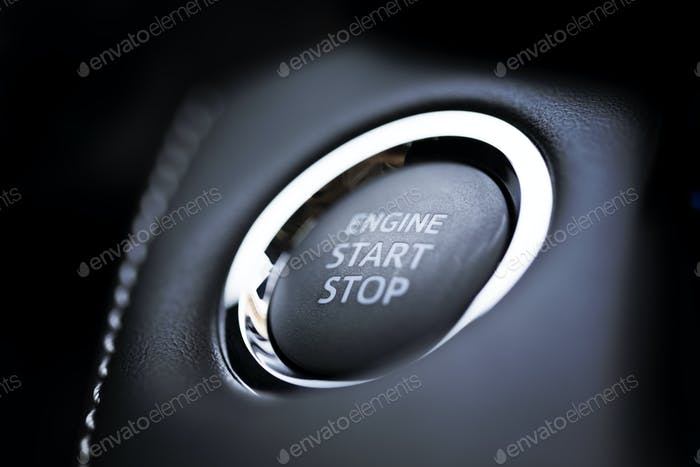 Engine start stop button