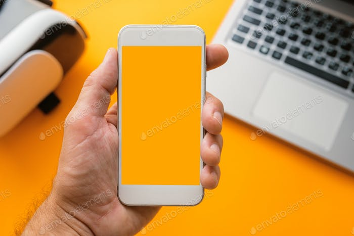 Mock up smartphone screen
