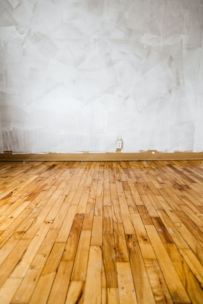 Empty Floor and Painted Walls