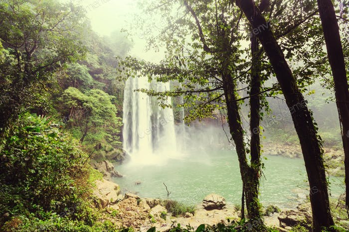 Wasserfall in Mexiko