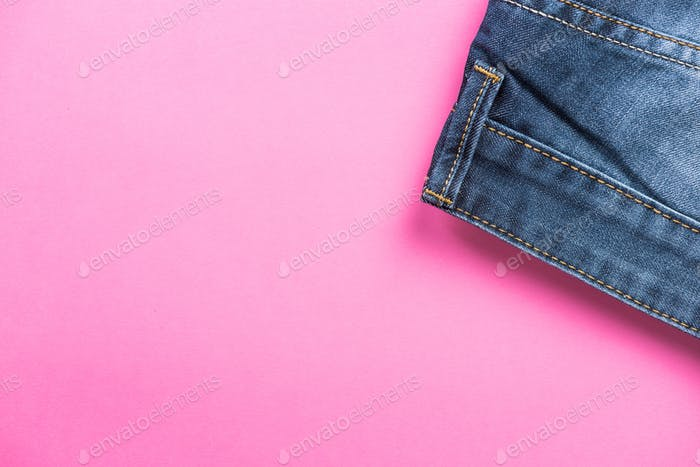 Fasion and jeans store header or template copy space