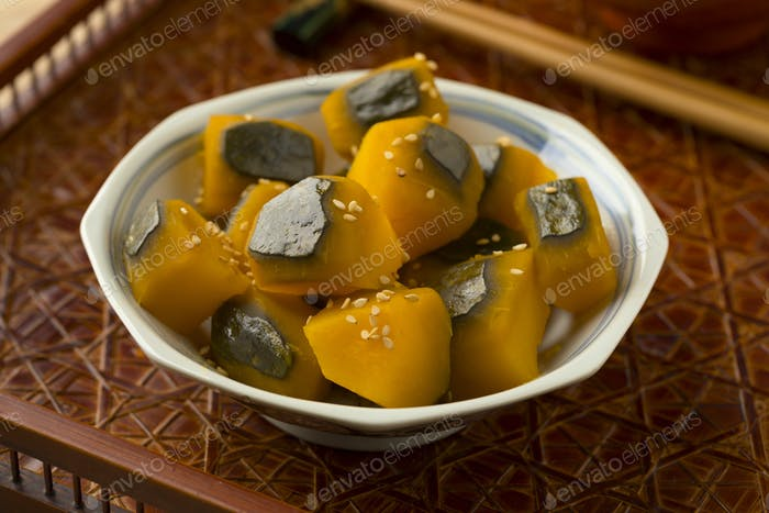 Sweet cooked Kabocha winter squash
